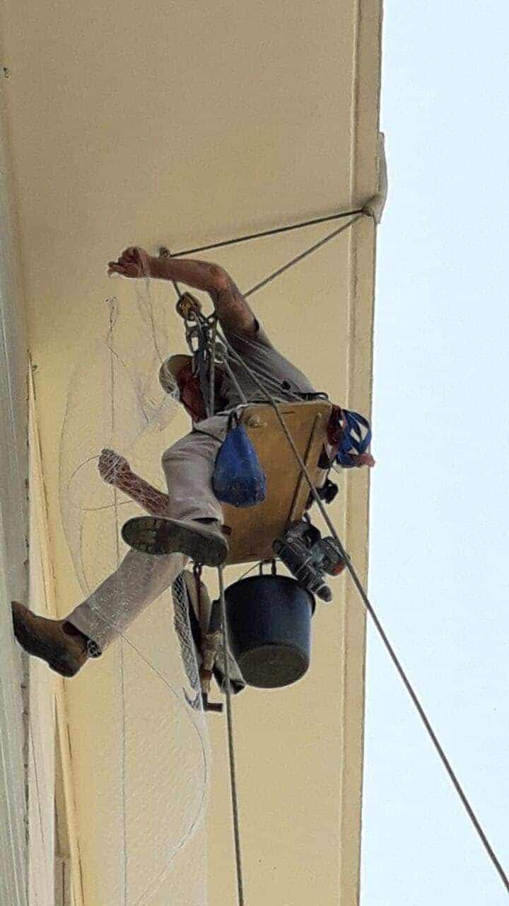 עבודות סנפלינג - במרומיו - עבודות בגובה